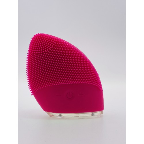 Mini Silicone Facial Cleansing Brush Ansigtsbørste - Rosa/Rød