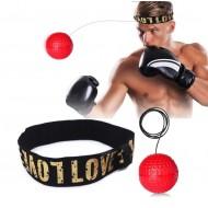 MMA Hovedbånds-boksning | Refleksbold med pandebånd - rød