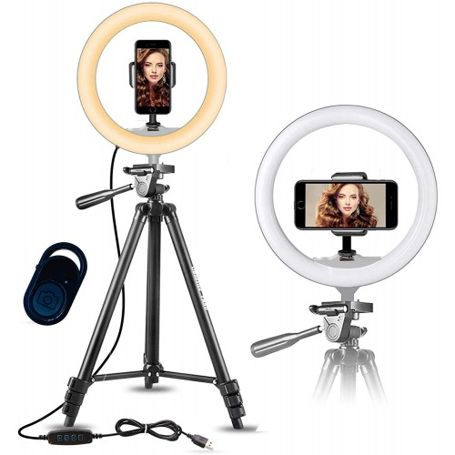 Model 3120 Ring Light Med Stativ max. 136 cm & Bluetooth Fjernbetjening