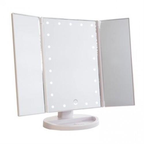 Monoko® Hollywood Makeup Spejl Trifold spejl med LED lys ,Hvid