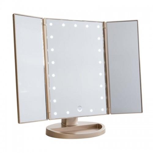Monoko® Hollywood Makeup Spejl Trifold spejl med LED lys ,RoseGold