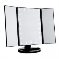 Monoko®Hollywood Makeup Spejl Trifold spejl med LED lys ,Sort