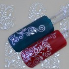 Nail art stickers i sølv - 3d silver