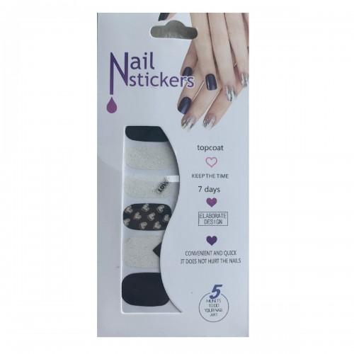 Nail Stickers - Nail Wrap 12 stk no. 02