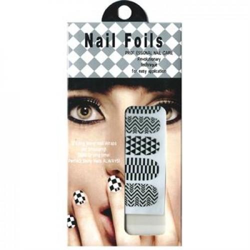 Nail Stickers - Negle wraps  12 stk no. 04