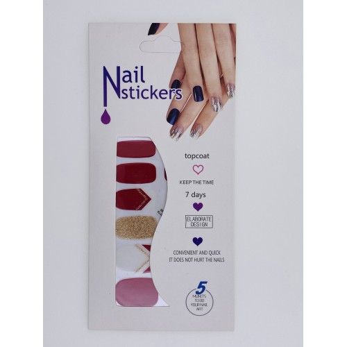 Nail Stickers - Negle wraps  12 stk no. 11