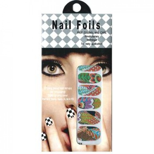 Nail Stickers - Negle wraps  12 stk no. 18