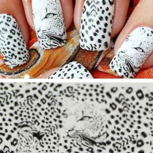 Negle stickers / nail wrap -  Wild Animal