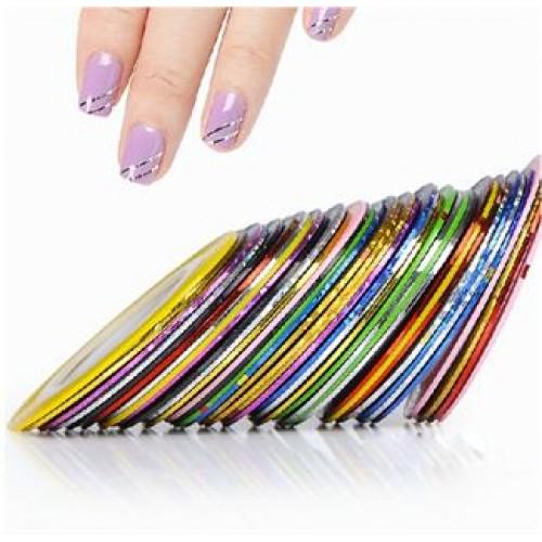Negletape til flotte nail art striber - 10 taperuller