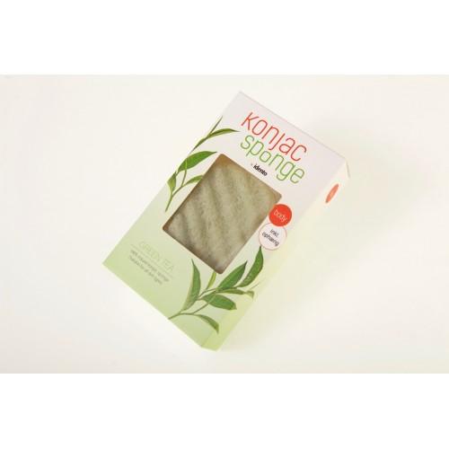 NYHED: Konjac Dry sponge Green Tea Wave ( til kroppen )