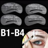Øjenbryns Skabeloner - Eyebrow Stencils (B1-B4) - 4 stk.