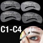 Øjenbryns Skabeloner - Eyebrow Stencils (C1-C4) - 4 stk.