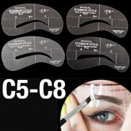 Øjenbryns Skabeloner - Eyebrow Stencils (C5-C8) - 4 stk.