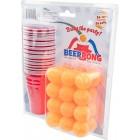 Ølpong / Beer Pong | Sæt med 24 plastikkrus & 24 bordtennisbolde
