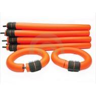 Orange hair rollers - orange, 10 stk.
