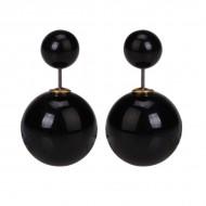 Perleøreringe - sorte