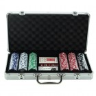 Poker Sæt i Aluminium Kuffert - 300 poker chips
