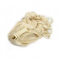Ponytail Hestehale med hårklemme, Curly - blond #613