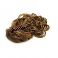 Ponytail Hestehale med hårklemme, curly - Lysebrun #6