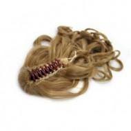 Ponytail Hestehale med hårklemme, Curly - Mellem blond #27
