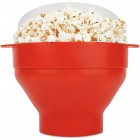 Popcorn Maker Skål - Lav popcorn i mikrobølgeovnen - Rød