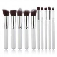 PRO Makeupbørster White / Silver - 10 stk