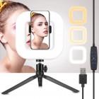 Selfie Ring Light Square D21 til smartphone | Perfekt til youtube, streaming, video og foto
