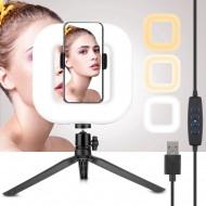 Selfie Ring Light Square D21 | Perfekt til youtube, streaming, video og foto