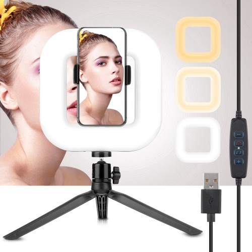 Selfie Ring Light Square D21 | Perfekt til youtube, streaming, video og foto