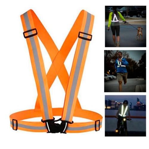 PRO SPORT Refleksvest / reflekssele til løb / cykling - orange