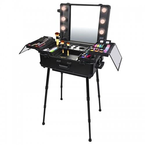 Pro Studio 2 Go - Komplet kuffert med Hollywood spejl og opbevaring