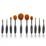 Mermaid® PRO Ovalbørster til makeup 10 stk