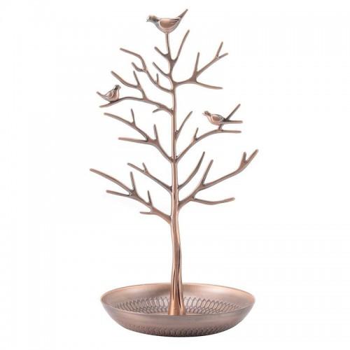 Retro smykketræ med fugle, bronze