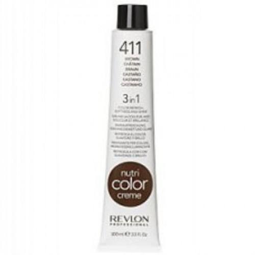 Revlon Nutri Color Creme tube 100 ml. No 411 Brown