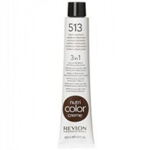 Revlon Nutri Color Creme tube 100 ml. No 513 Deep Chestnut