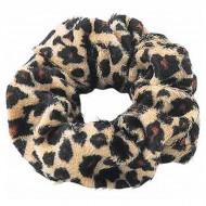 Scrunchie - Velour & elastisk - Leopard