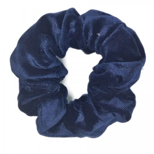 Scrunchie hårelastik, mørkeblå