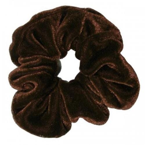 Scrunchie hårelastik - Mørkebrun