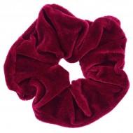 Scrunchie - Velour & elastisk - Rød
