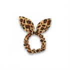 Scrunchie med sløjfe - Leopard