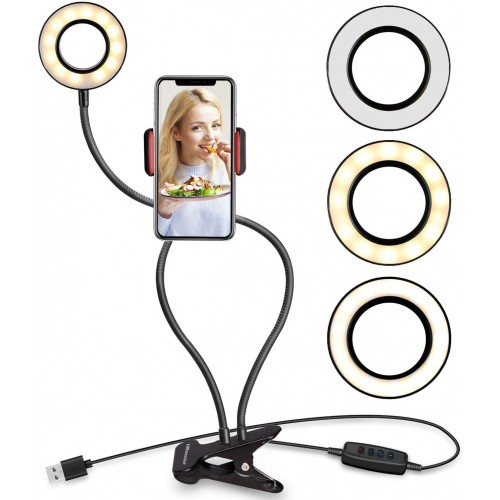 Selfie LED light ring med justerbare til smartphones