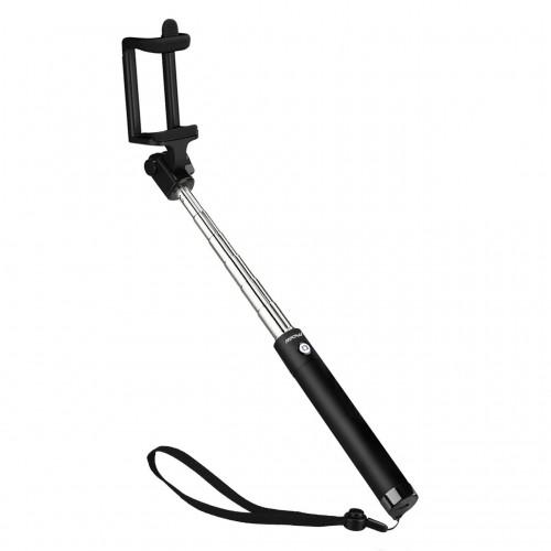 Selfie Stang (Compact Selfie stick) til smartphones, sort