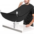 Shave King bib - Barberingsforklæde med sugekopper til spejl, sort