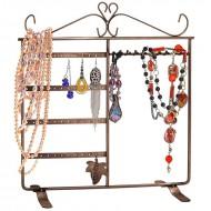 Smykkestativ til halskæder, fingerringe & øreringe - Bronze