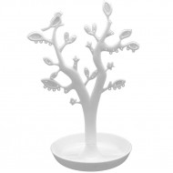 Smykketræ med dekorative blade - Hvid