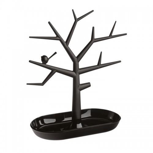 Smykketræ med fugl - sort