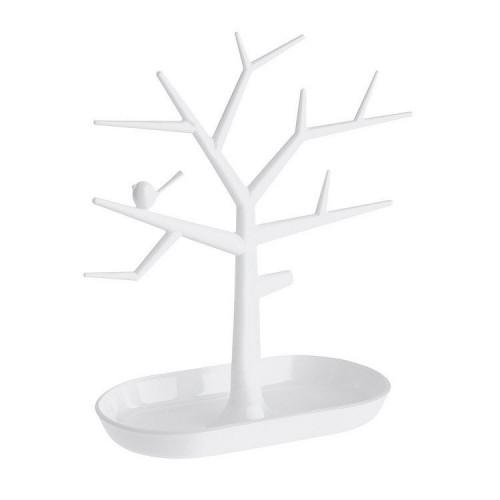 Smykketræ med fugl - Hvid