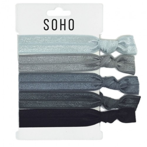 SOHO® Hair Ties no. 18 - SILVER SHADES