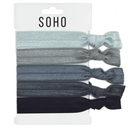 SOHO® Hair Ties no. 18 - SILVER SHADES