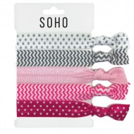 SOHO® Hair Ties no. 21 - PINK DOTS